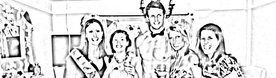 naked butlers, hen parties