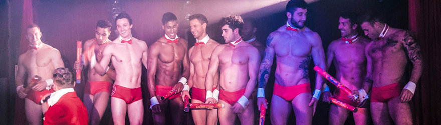 hen party ideas, naked butlers